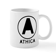 Athica Logo Black Mugs