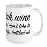 I Drink Wine Large Mug