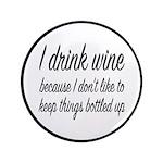 I Drink Wine Button
