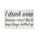 I Drink Wine Rectangle Magnet (10 pack)