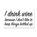 I Drink Wine Rectangle Car Magnet