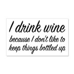 I Drink Wine 20x12 Wall Decal