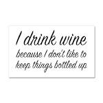 I Drink Wine Car Magnet 20 x 12