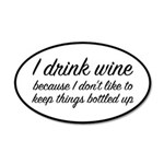 I Drink Wine 35x21 Oval Wall Decal