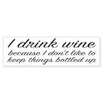 I Drink Wine Sticker (Bumper)
