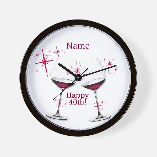 Custom 40th Birthday Wall Clock