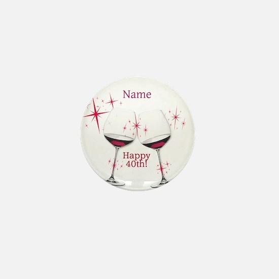 Custom 40th Birthday Mini Button