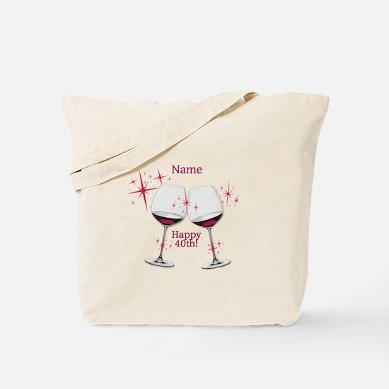 Custom 40th Birthday Tote Bag