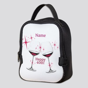 Custom 40th Birthday Neoprene Lunch Bag