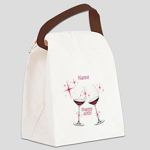 Custom 40th Birthday Canvas Lunch Bag