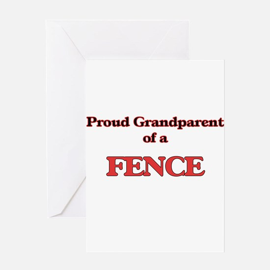 Proud Grandparent of a Fence Greeting Cards
