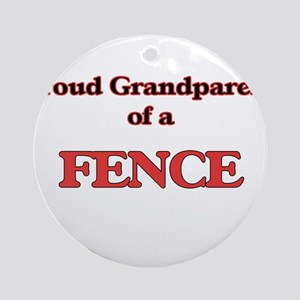 Proud Grandparent of a Fence Round Ornament