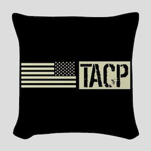 U.S. Air Force: TACP (Black Fl Woven Throw Pillow