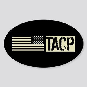U.S. Air Force: TACP (Black Flag) Sticker (Oval)