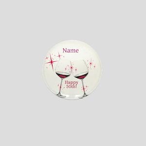 Custom 50th Birthday Mini Button