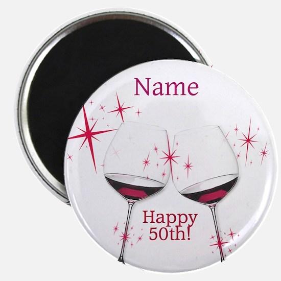 Custom 50th Birthday Magnets