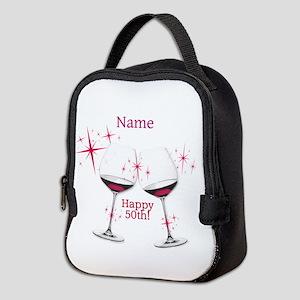 Custom 50th Birthday Neoprene Lunch Bag