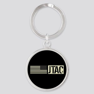 U.S. Air Force: JTAC (Black Flag) Round Keychain