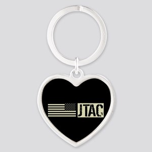 U.S. Air Force: JTAC (Black Flag) Heart Keychain