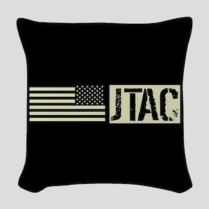 U.S. Air Force: JTAC (Black Fl Woven Throw Pillow