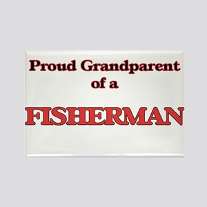 Proud Grandparent of a Fisherman Magnets
