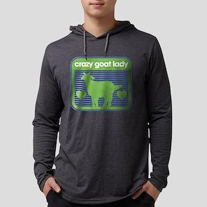 Crazy Goat Lady Mens Hooded Shirt