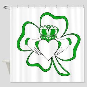 Claddagh-01 Shower Curtain