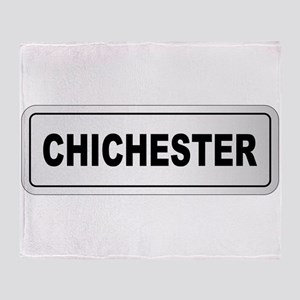 Chichester City Nameplate Throw Blanket