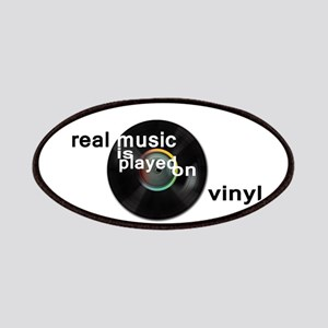 Real music is played om vinyl Patch