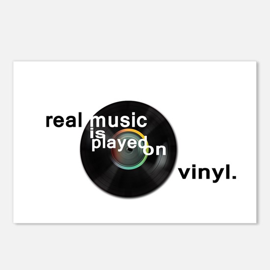 Real music is played om v Postcards (Package of 8)