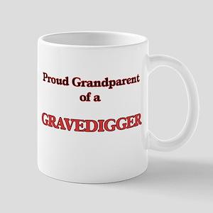 Proud Grandparent of a Gravedigger Mugs