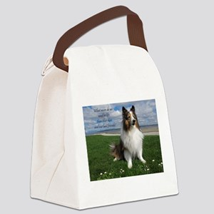 Blue skies and Best friends Canvas Lunch Bag