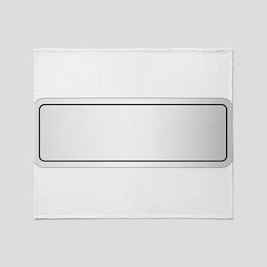 Blank City Nameplate Throw Blanket