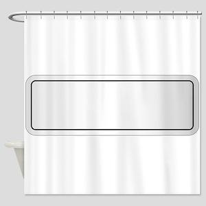 Blank City Nameplate Shower Curtain
