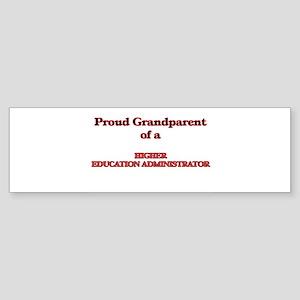Proud Grandparent of a Higher Educa Bumper Sticker