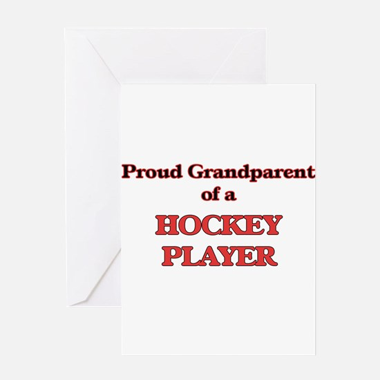 Proud Grandparent of a Hockey Playe Greeting Cards