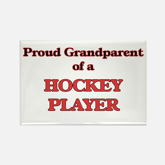 Proud Grandparent of a Hockey Player Magnets