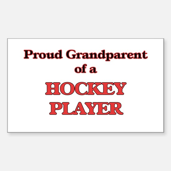 Proud Grandparent of a Hockey Player Decal