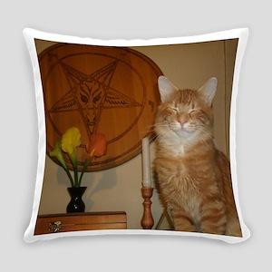 Happy Satanic Kitty Everyday Pillow