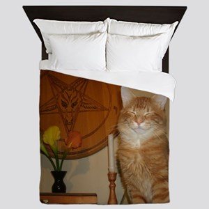 Happy Satanic Kitty Queen Duvet