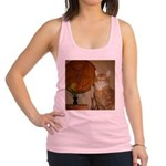 Happy Satanic Kitty Racerback Tank Top