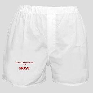 Proud Grandparent of a Host Boxer Shorts