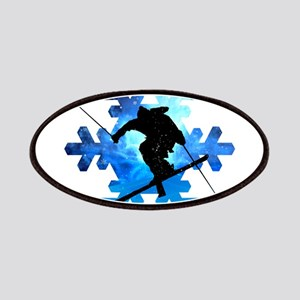 Winter Landscape Freestyle skier in Snowflak Patch