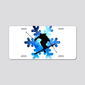 Winter Landscape Freestyle Aluminum License Plate