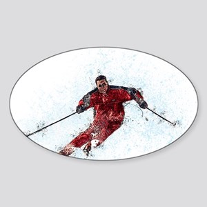 Downhill Skier on the Slopes Sticker