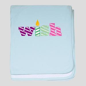 Candle Wish baby blanket