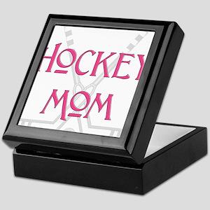HockeyMomSticksPink Keepsake Box