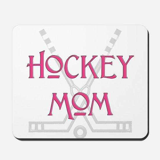 HockeyMomSticksPink.png Mousepad