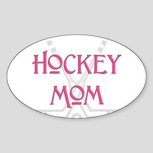 HockeyMomSticksPink Sticker