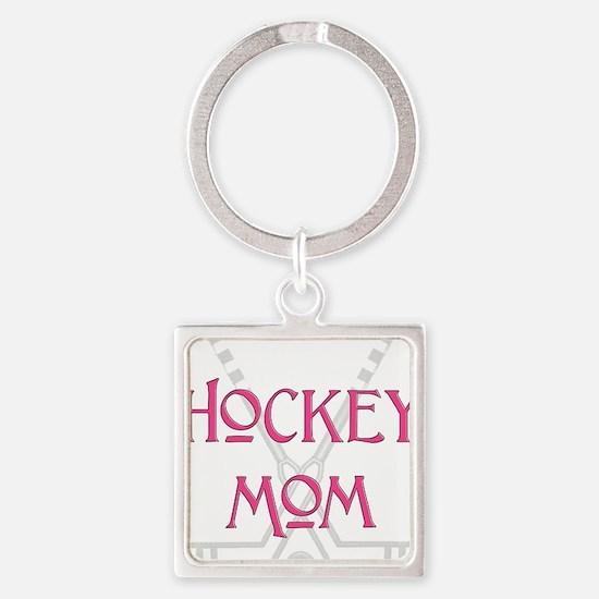 HockeyMomSticksPink.png Keychains